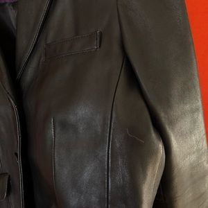 Calvin Klein Jackets & Coats - Calvin Klein black leather blazer